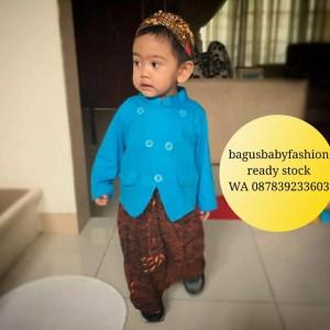 Baju Adat Anak Kostum Jawa Setelan Beskap Bayi dan Anak plus Blangkon