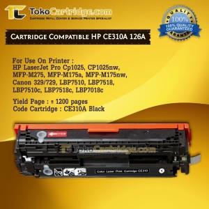 Toner Hp Ce310a 126a Compatible Tokopedia