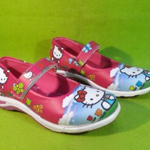 Sepatu Anak Perempuan Hello Kitty Kabocha Pink Biru Tokopedia