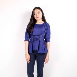 Jual Pastel Polly Corset Blouse | Baju Cewek | Atasan Wanita | Sabrina Top