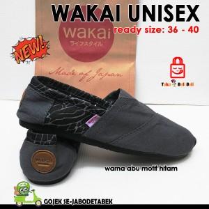 Jual sepatu wakai murah pria wanita unisex casual slip on ab Berkualitas 8d1fb663b3