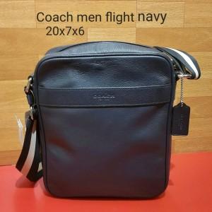 Jual Coach men flight navy tas asli original bag branded bag authentic bag 9643235100