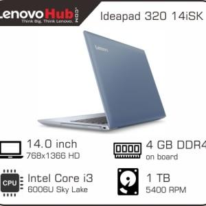 Lenovo Ideapad 320 14isk 1cid Intel Core I3 6006u Ram 4gb Hdd 1tb Windows 10 White Tokopedia