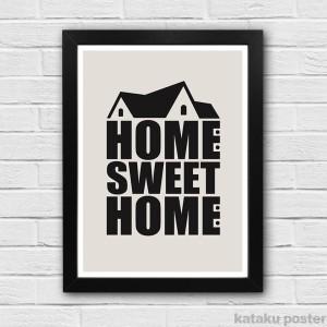Jual Poster Tipografi - HOME SWEET HOME #2 - Dekorasi Rumah