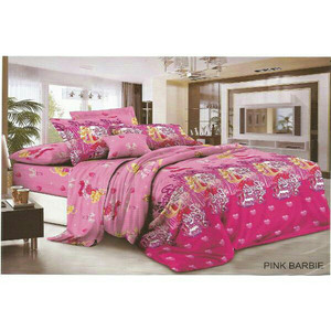 Bed Cover Set Sprei Fata Size Single Pink Barbie