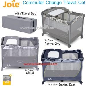 Box Bayi Joie Commuter Change Travel Cot Cloud