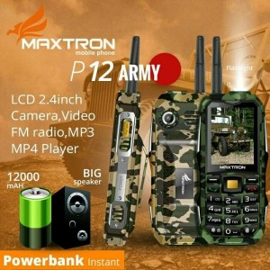 Hp Outdoor Maxtron P12 C15 Bisa Power Bank Senter Terang Speaker Klip Tokopedia
