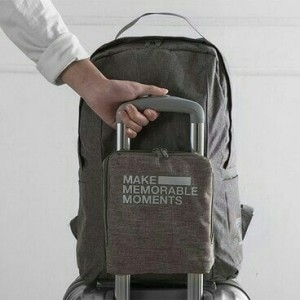 premium Folding extra bag / duffle backpack / tas ransel koper lipat