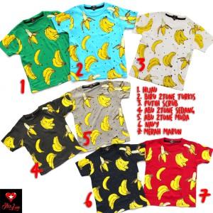 baju kaos anak unisex banana premium quality product