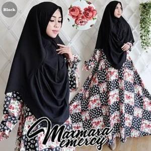 Baju Muslimah Promo [Syari Maxmara Emercy Black TL] gamis wanita