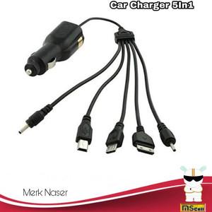 Charger Hp Untuk Di Mobil 5in1 Tokopedia