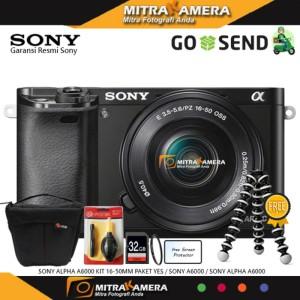 Sony Alpha A6000 Kit 16 50mm 24 3 Megapixel Free Sdhc 16gb Tokopedia