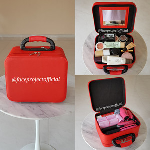 Terlaris Koper Kosmetik Beauty Case Kosmetik Case Kp 06 3 Partisi Black Tokopedia