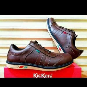 Sepatu Pria Kickers Shaka Coklat Tokopedia