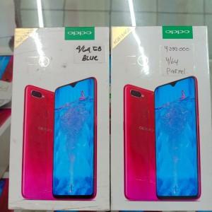 Oppo F9 4 64 Red N Blue New Segel Garansi Resmi Oppo Se Nasional Tokopedia