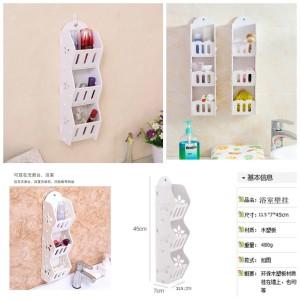 Terbaru Rak Kosmetik Hp 3 Susun Rak Dinding Rak Gantung 3 Susun Rack Shabb Tokopedia
