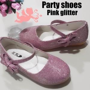 Sepatu Anak Perempuan Pink Party Glitter Tokopedia