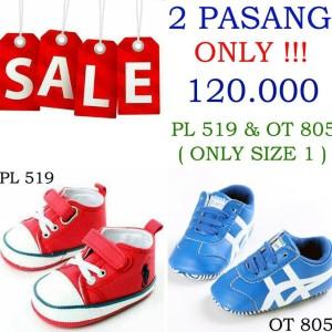 Sepatu Bayi Promo 2 Pasang Pl 318 Pl 319 Tokopedia