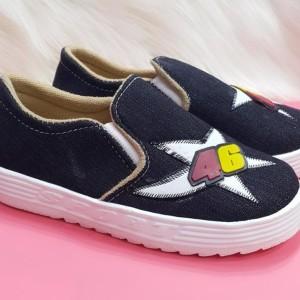 Sepati Anak Anak Foxing Denim 46 Sporty Tokopedia