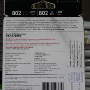 Hp 802 Ink Catridge Color Tokopedia