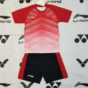 Baju Kaos Setelan Badminton Anak Lining L 35 Kuning Tokopedia
