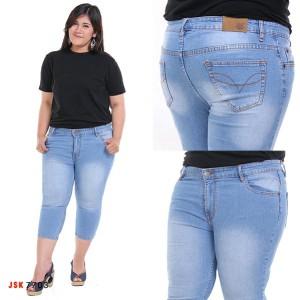 Celana Pendek Jeans Skinny Super Jumbo Wanita Size 39 42 Tokopedia