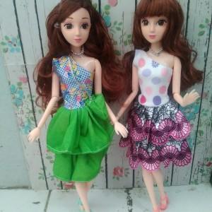Boneka Barbie Pivotal Mata 3D Dengan Box + Aksesoris Cantik