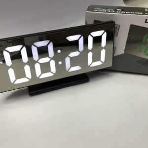 Mirror Led Digital Alarm Clock Cermin Jam Digital Alarm Tokopedia