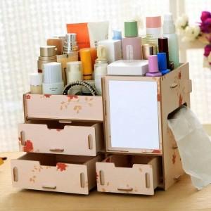 Termurah Kosmetik Organizer Rak Make Up Rak Kosmetik Kayu Tokopedia