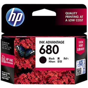 Hp 680 Black Ink Catridge F6v27aa Original Tokopedia