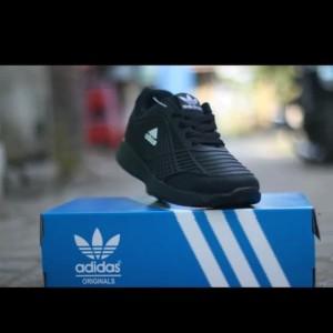 Best Seller Sepatu Sekolah Adidas Bahan Karet Hitam Polos Tokopedia