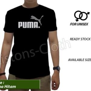 Kaos Puma Sport Run T Shirt Baju Distro Cowok Hitam Tomyliston Tokopedia