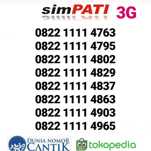 Jual Nomor Cantik Simpati Promo Kartu Perdana Telkomsel 4G Murah