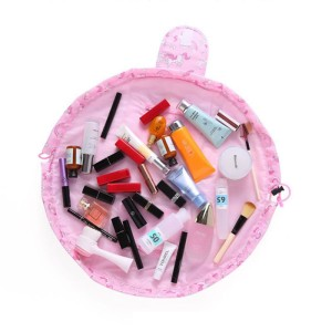 Tas Kosmetik Travel Pouch Drawstring Unicorn Pink Tokopedia