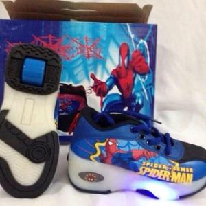 Sepatu Roda 2in1 Lampu Spiderman Size 28 30 32 34 36 Tokopedia