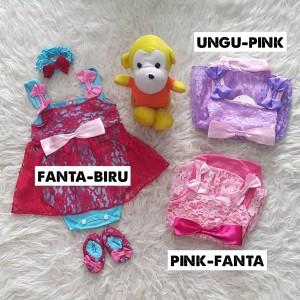 Set Baju Bayi Perempuan Jumper Bayi Overall Bayi Baju Bayi Lucu Setelan Bayi Setelan Anak Tokopedia