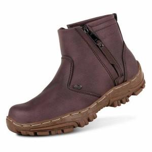 Sepatu Boots Pria Crocodile Zipper Safety Kulit Asli Coklat Tokopedia