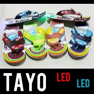Sandal Jepit Anak Anak Led Tayo Trains Tokopedia