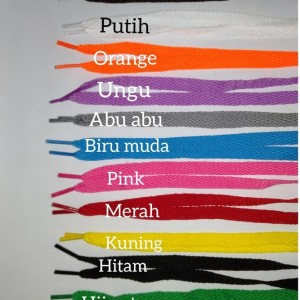 Tali Sepatu Gepeng Warna Warni Tokopedia