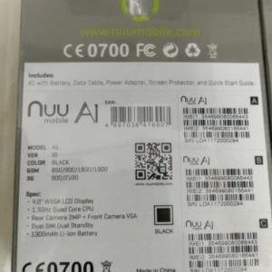 Android Smartpone Nuu A1 3g Ram 1gb 8gb Resmi Bukan Xiaomi Sharp Sony Docomo Tokopedia