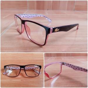 Jual paket hemat frame kacamata Lacoste wanita lensa minus plus cylinder 97a86a31d4