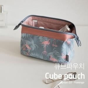 Water Proof Cube Pouch Cosmetic Toiletries Bag Dompet Tas Kosmetik Tokopedia