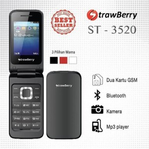 Hp Strawberry St3520 Flip Hp Lipat Strawberry St 3520 Tokopedia