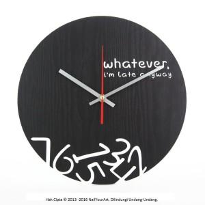 Jam Dinding Unik Artistik Whatever Wall Clock Tokopedia