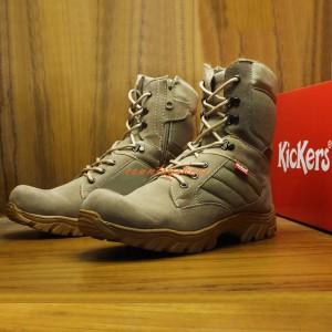 Sepatu Boots Pria Kickers Safety Ujung Besi Tan Tokopedia