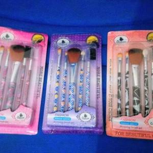 Kuas Make Up Kosmetik Wajah 12 Set Case Kulit Ungu Tokopedia