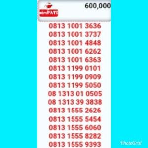 Jual Nomor Cantik SimPati seri 1001 Double AB 3636(0813.1001.3636)Hoki R121