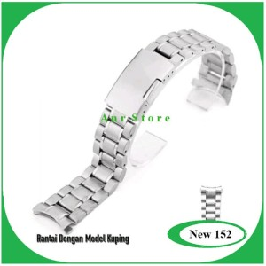 Tali Jam Tangan Rantai Stainless Steel Bracelt 18 20 22 24 26 mm