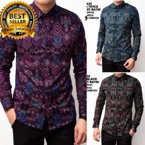 Baju Batik Pria Kemeja Lengan Pendek Hem Batik Tokopedia