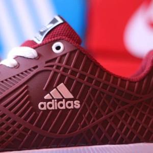 Sepatu Olahraga Adidas Bahan Karet Merah Maroon Tokopedia